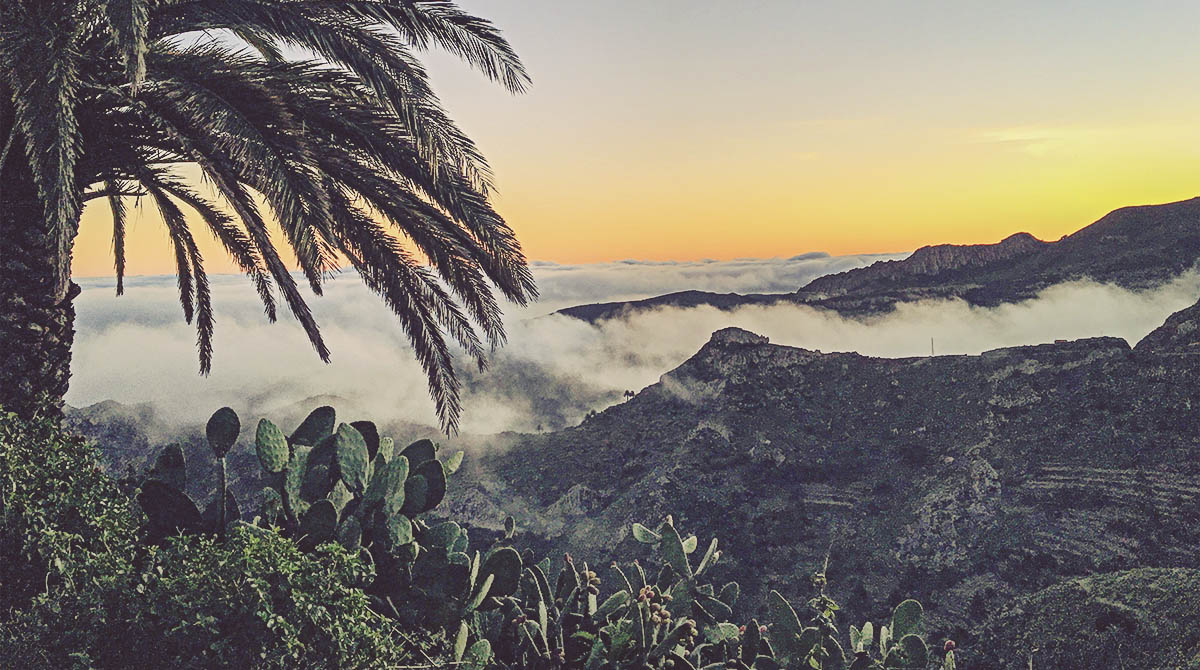 Mar de nubes en La Gomera