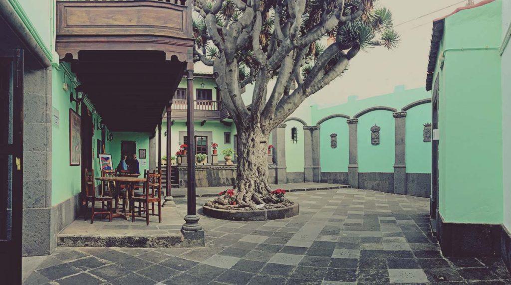 Patio interior de la Casa de la Cultura de Arucas, Gran Canaria