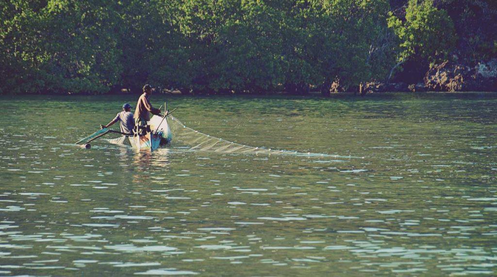Pescadores en Lombok