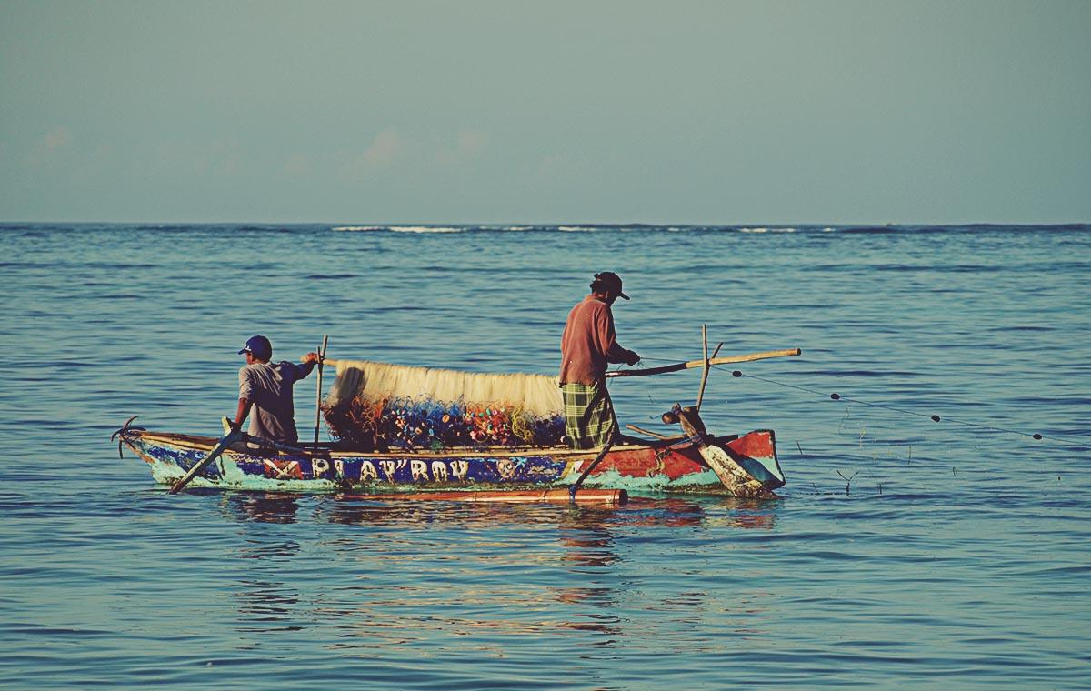 Pescadores en Kuta. Lombok