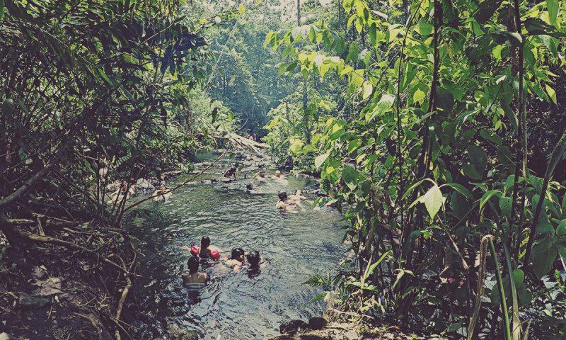 Chollín. Aguas termales gratuitas en Arenal, La Fortuna. Costa Rica