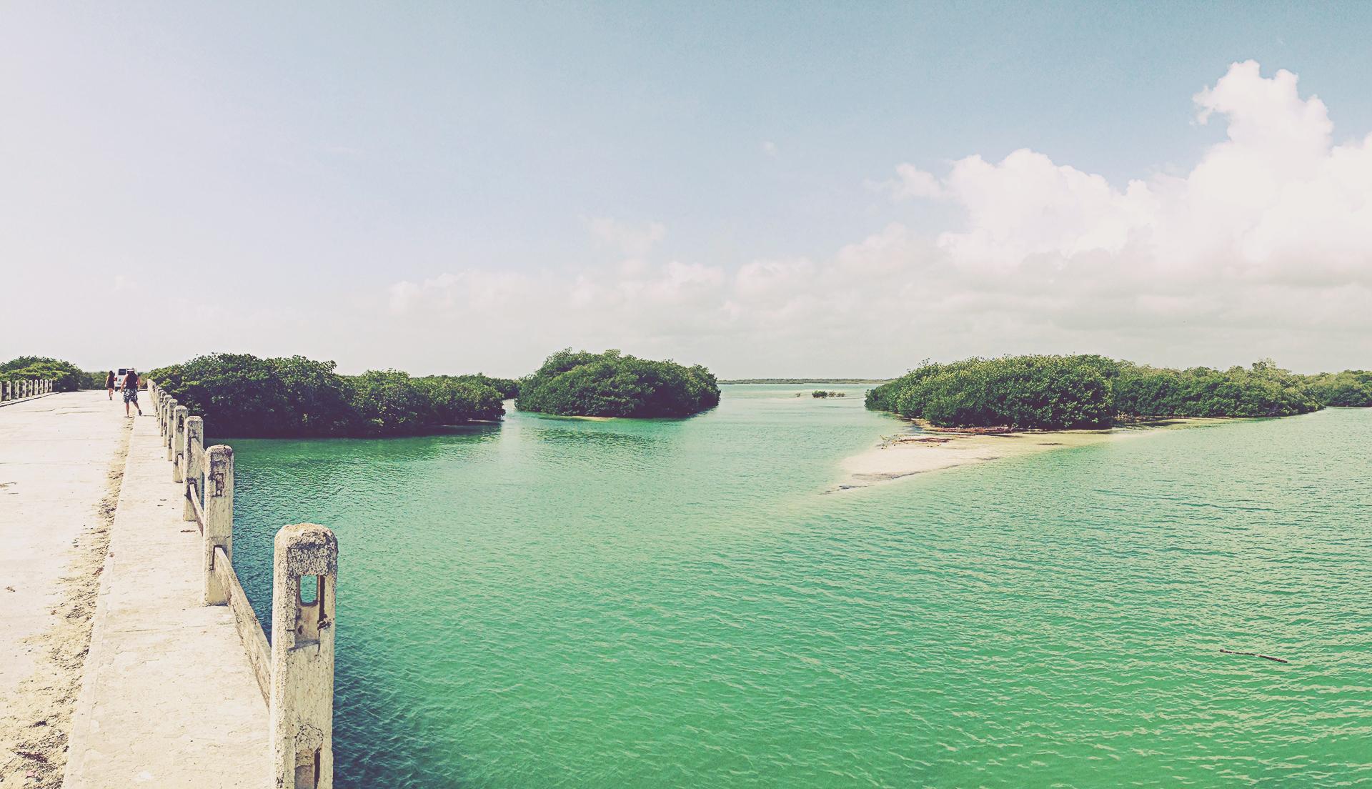 Puente de Boca Paila (Sian Ka'an). Riviera Maya