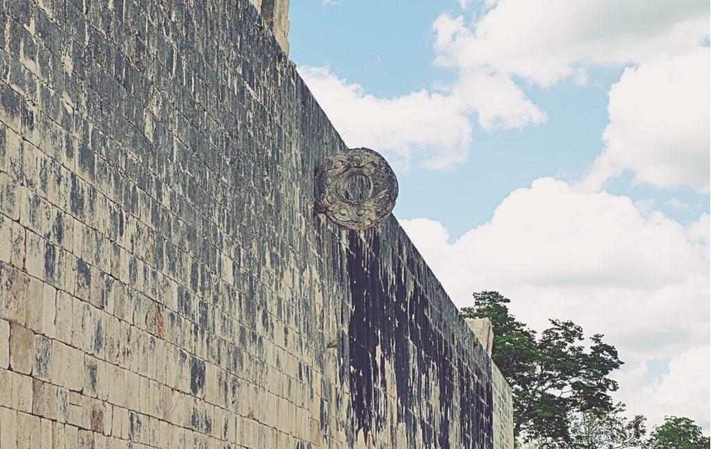 Chichén Itzá. Aro del juego de pelota