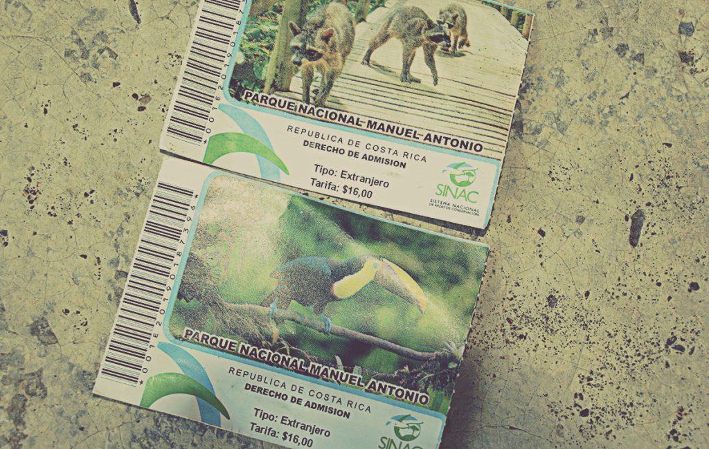 Entradas al Parque Nacional Manuel Antonio. Costa Rica
