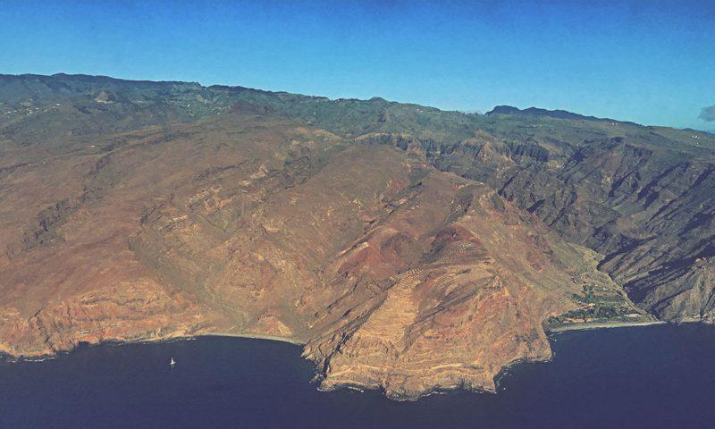 La Gomera desde el aire